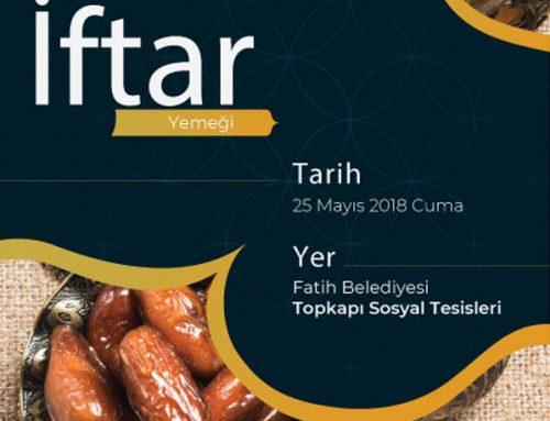 İftar Yemeği – 25 Mayıs 2018 Cuma